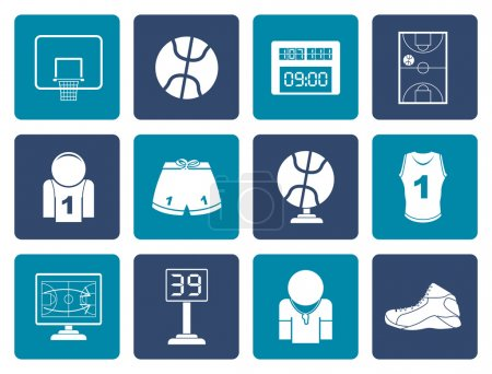 Flat Basketball and sport icons