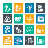 Silhouette Green energy and environment icons
