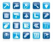 Stavební a domácí renovace ikony
