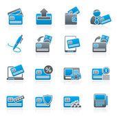 credit card POS terminal and ATM icons