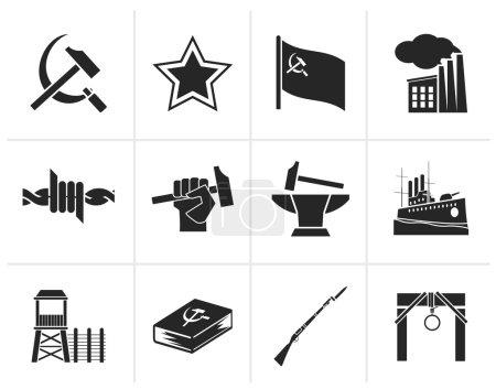 Black Communism, socialism and revolution icons - ...