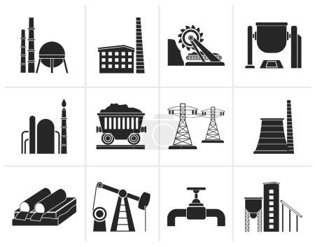 Black Heavy industry icons