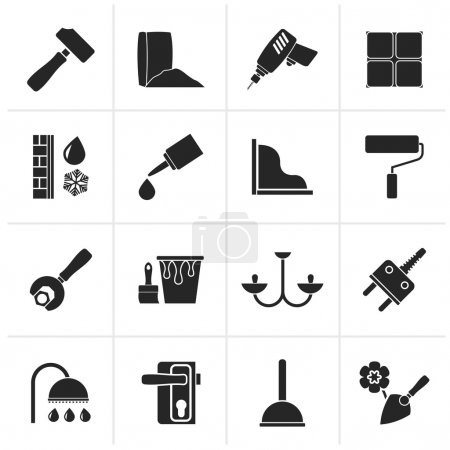 Black Construction and building equipment Icons