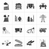 Black Cargo shipping and logistic icons