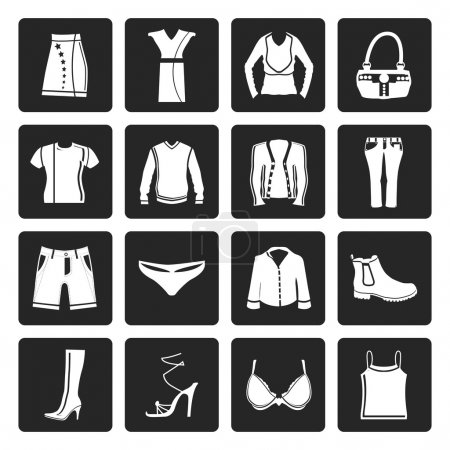 Black Clothing and Dress Icons