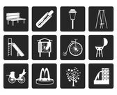 Black Park objects and signs icon - vector icon set