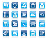 Switzerland industry and culture icons  - vector icon set