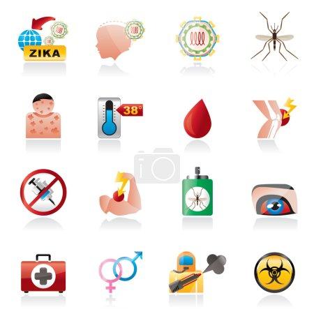 Zika Virus pandemic icons