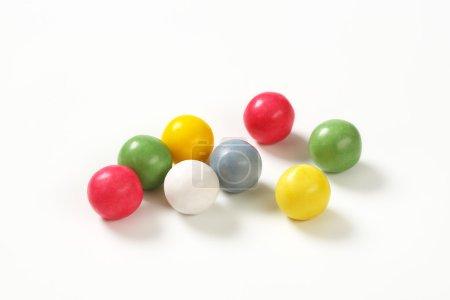 Yellow candy balls