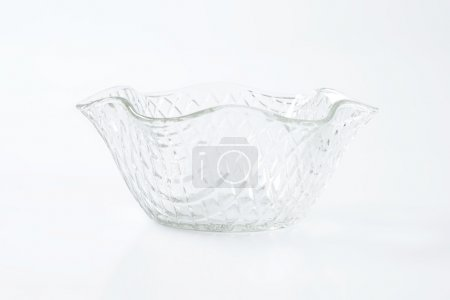 Photo for Decorative fruit or salad glass bowl - Royalty Free Image