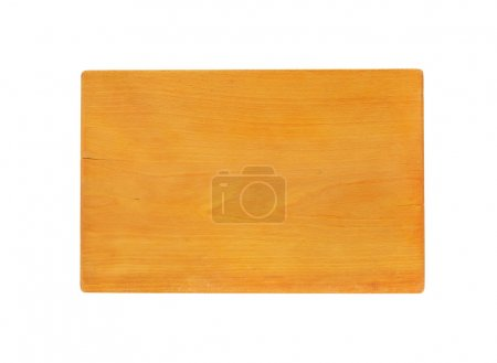 Photo for Rectangle chopping board on white background - Royalty Free Image
