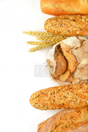 Photo for Assorted bread loaves, rolls and baguettes - Royalty Free Image