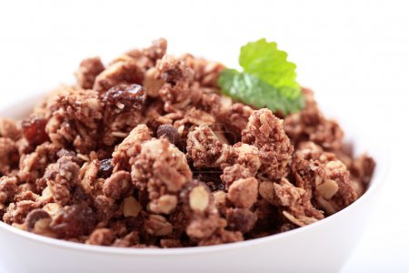 Photo for Chocolate breakfast cereal in a bowl - Royalty Free Image
