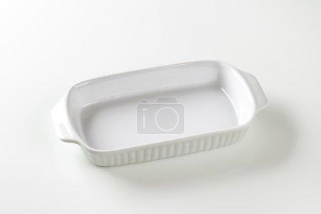 White ceramic baking dish