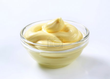 Photo for Bowl of creamy salad dressing spread - Royalty Free Image