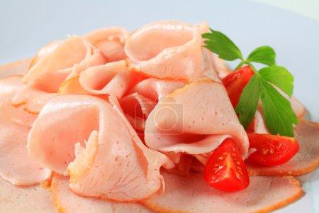 Delicately sliced chicken breast