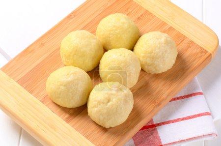 Meat stuffed potato dumplings
