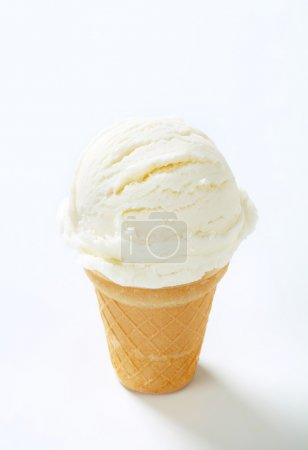 White ice cream cone