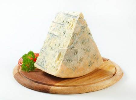 Blue cheese on a cutting board...