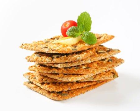 Pumpkin seed cheddar crackers
