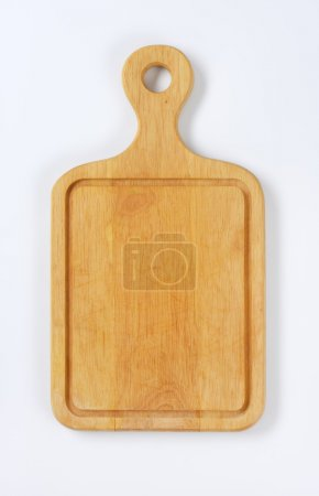 Photo for Paddle cutting board with groove - Royalty Free Image