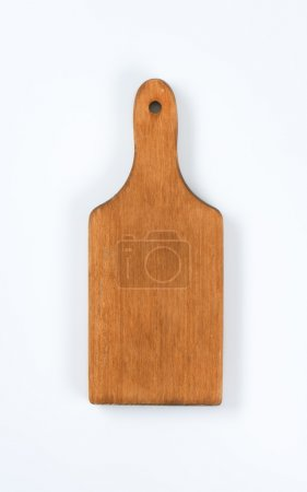 Photo for Clean wooden paddle cutting board - Royalty Free Image