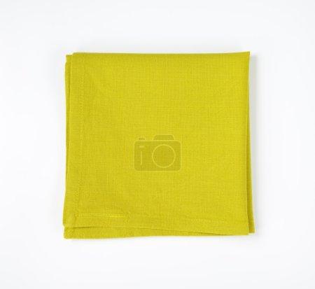 Green folded napkin