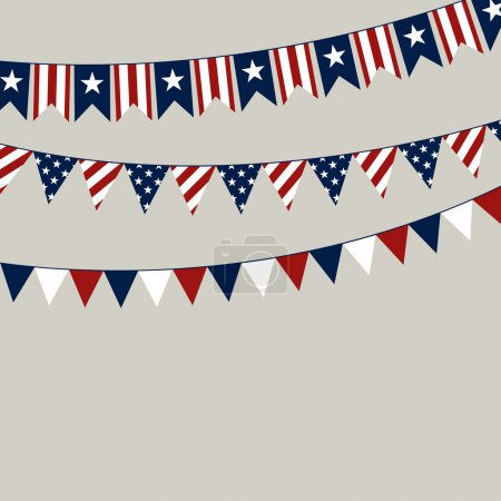 Illustration for Vector Illustration of a 4th of July Independence Day Background - Royalty Free Image