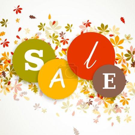 Illustration pour Illustration vectorielle d'un design de vente d'automne - image libre de droit