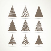 Vector Christmas Tree Icons