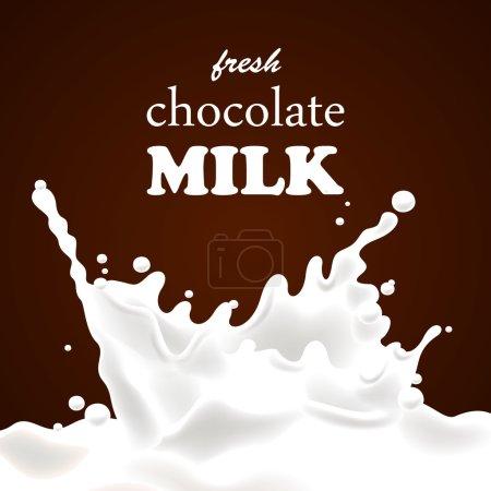 Vector Chocolate Milk Splash