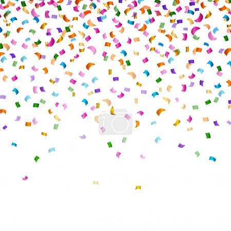 Vector Party Background with Confetti