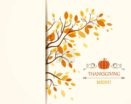 Illustration for Vector Illustration of a Thanksgiving Design - Royalty Free Image