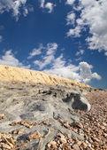 Medical mud on the shore of the Dead Sea, Jordan
