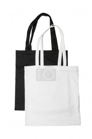 White and black bags