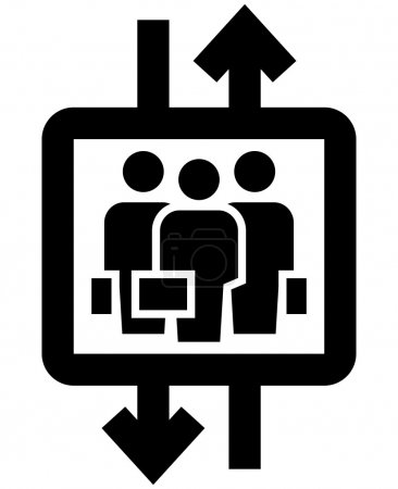 Vertical mobility icon