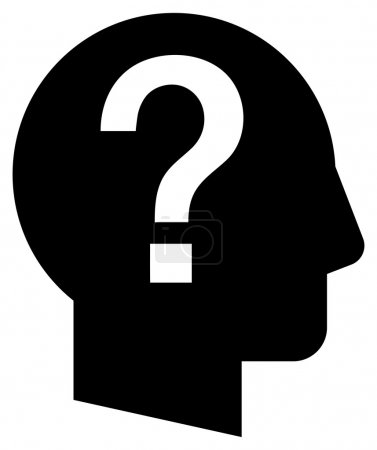Black vector sign of shady character with question mark