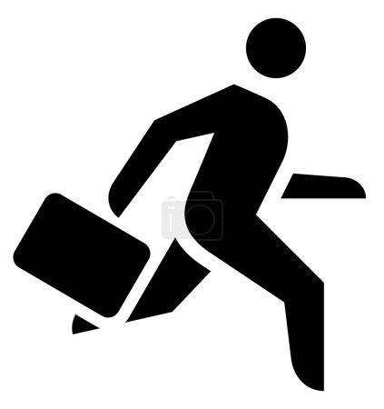 Running businessman icon