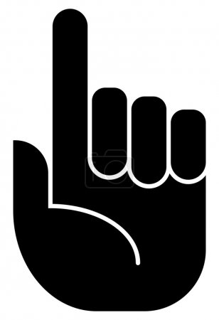 Attention finger icon