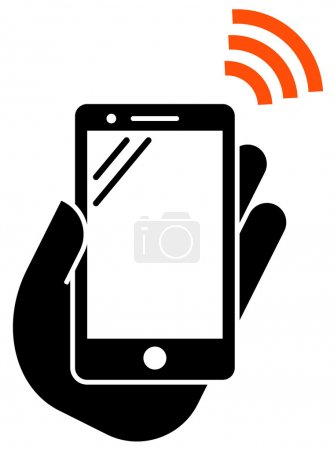 Smartphone with NFC icon