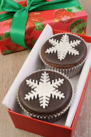 a Christmas muffins