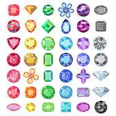 Populární nízké poly barevné drahokamy škrty nastavení gradace barev