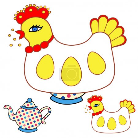 Magic chicken warmer for teapot