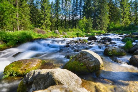 Water stream on slopes