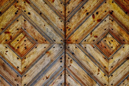 Photo for Detail from  wooden gates close up - Royalty Free Image
