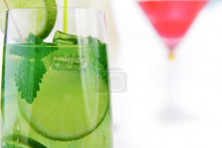 Photo for Cocktail into glass and cubes of ice - Royalty Free Image