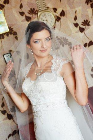 Beautiful  bride in dress