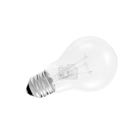 Foto de Bombilla de luz aislado en blanco - Imagen libre de derechos