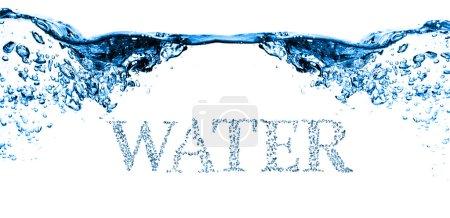 blue water bubbles