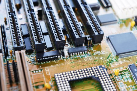Photo for Electronic mother board of computer - Royalty Free Image